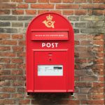 Danish red postbox